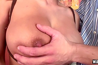Huge Chested Blonde Fucking Coffee Guy