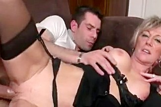 Crazy Amateur video with Blonde, Stockings scenes