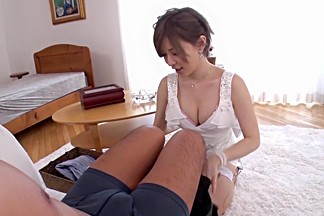 Incredible Japanese model Yuria Satomi in Amazing stockings, cunnilingus JAV video
