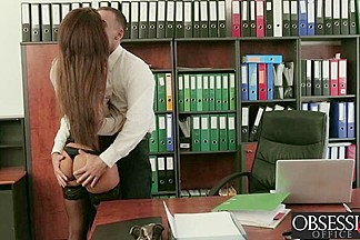 Irre###tible Alexis Brill getting slammed hard on the office desk