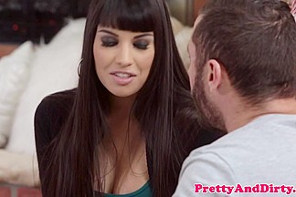 Glam girlfriend railed by blindfolded bf
