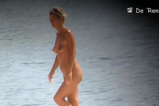 Blonde wenches aren't shy to show their bodies on the beach