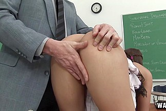 Natasha Vega & Dick Chibbles in Professor Dick Teaches A New Student How To Pass His Class - SexForGrades