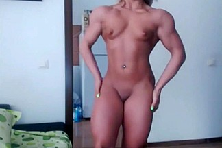 Muscle Blonde on Cam