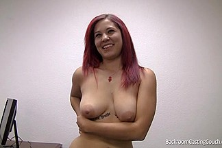 Redhead bitch takes a fat cock in her ass and gets a hot facial