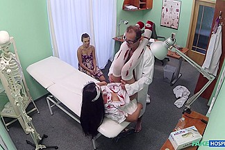 Tiffany in Doctor scares patient with his halloween nurse - FakeHospital