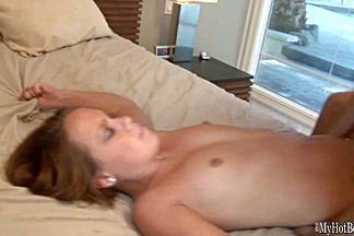 Pretty 18yearold redhead, Haley Sweet, gives her man a massage, for which he