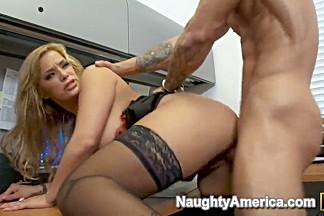 Alan Stafford getting fucked from the hot latina chick Shyla Stylez