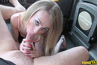 Carmel in Slim blonde likes it rough in back of cab - FakeTaxi