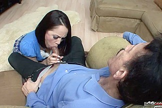 Kristina Rose doesnt care that her stepdad is some butt ugly and decrepit