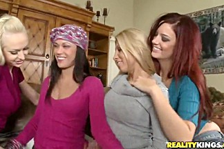 Hot and wild girls with Alyssa Reece and Jayden Cole getting crazy