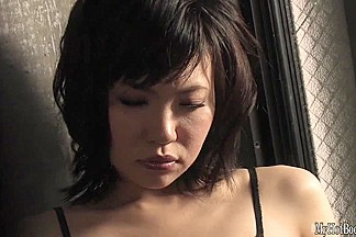 Japanese pornstar Kana Mimura is a hot slut in a fishnet catsuit. She