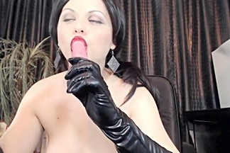 Mistress Ana Smoke.Gloves Handjob,Spity Bj