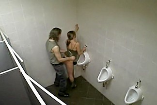 Incredible sex caught in a club toilet