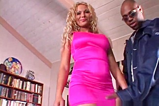 Hottest pornstar Anna Nova in amazing blonde, interracial adult clip