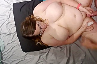 Bbw wife fucked and cum on face tits and belly vid