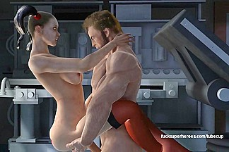 Wolverine and Harley Quinn - Naughty anal action
