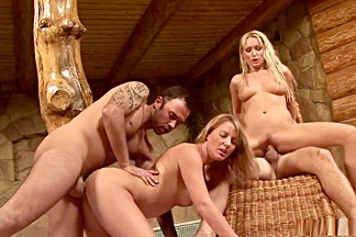 Fabulous pornstars Victoria Blond and Diana Doll in best group sex, swallow adult movie