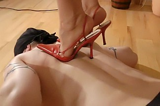 Red Heels Back Trampling