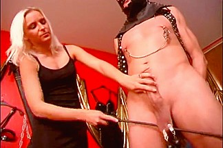 Big sissy slave dominated by two girls femdom style